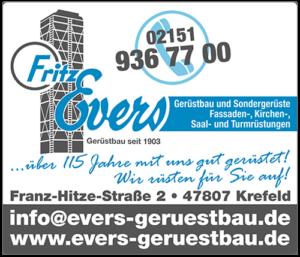 Gerüstbau Evers telefonisch zu erreichen unter 02151 936 77 00